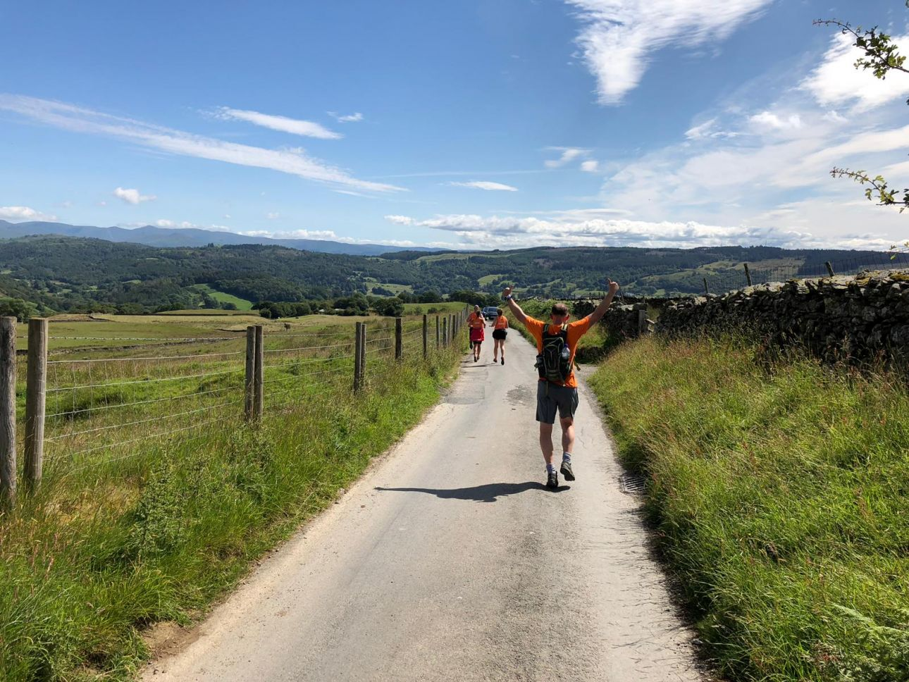 Rob Bell loving life on the Coniston Challenge Trek